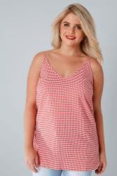 LIMITED COLLECTION White & Red Gingham Cami Top