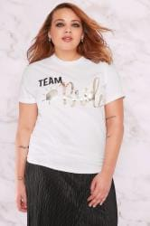 LIMITED COLLECTION White 'Team Bride' Foil Print Top