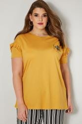 LIMITED COLLECTION Yellow 'Bee Mine' Embellished T-Shirt With Frill Sleeves