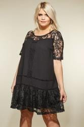 LOVEDROBE Black Lace Shift Dress
