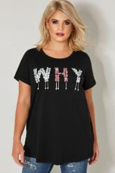 "LIMITED COLLECTION Czarny t-shirt ""WHY"""