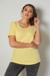 Lemon-hals T-shirt