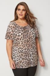 Leopard Print Gypsy Top