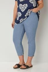 Light Blue Cropped Denim Jeans