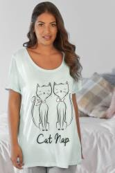 "Mint Green ""Cat Nap"" Pyjama Top"