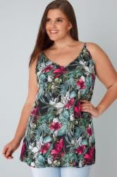 YOURS LONDON Multi Tropical Print Cami Top