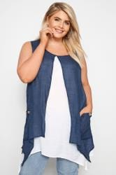Navy & White Layered Tunic Top