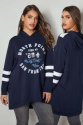 Navy 'North Point' Hooded Sweatshirt