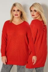 Orange Knitted Jumper With Cross Over Straps