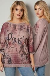 PAPRIKA Dusty Pink 'Paris' Fine Knit Top With Metallic Trim