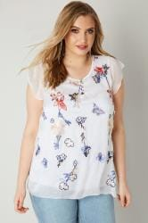 PAPRIKA White Blouse With Floral Embroidery