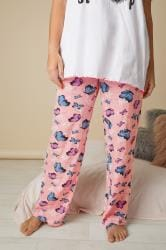 Pink Butterfly Print Pyjama Bottoms