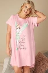 Pink Disney Tinkerbell 'Dream Sleep Sparkle' Print Nightdress