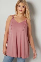 Pink Jersey Vest Top With D Ring Fastenings