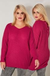 Pink Knitted Jumper With Cross Over Straps