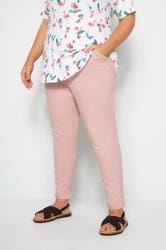 Pink Stretch Chino Trousers