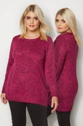 Pink Twist Knitted Jumper