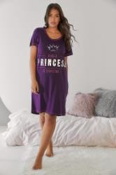 Purple 'Being A Princess Is Exhausting' Nightdress