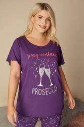Purple Prosecco Pyjama Top