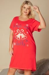 Red Christmas 'Jingle My Bells' Nightdress