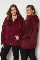 Red Zip Through Teddy Fleece