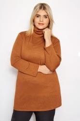 Rust Turtleneck Swing Top