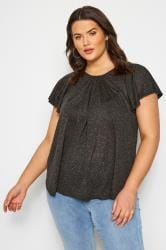 SIZE UP Charcoal Jersey Top