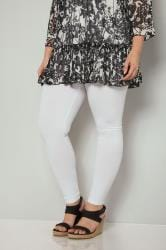 White Cotton Essential Leggings