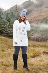 White Sequin 'Let It Snow' Christmas Jumper