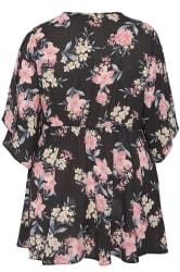 letter a necklace plus size yours black floral wrap blouse with 22751