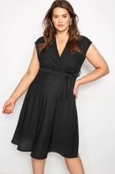 YOURS LONDON Black Wrap Dress