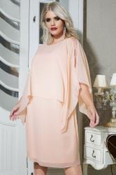YOURS LONDON Blush Pink Embellished Cape Top