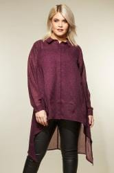 YOURS LONDON Burgundy Animal Print Shirt
