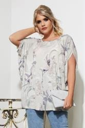 YOURS LONDON Ivory Floral Cape Top