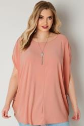 YOURS LONDON - Top Cape Rose & Collier Offert