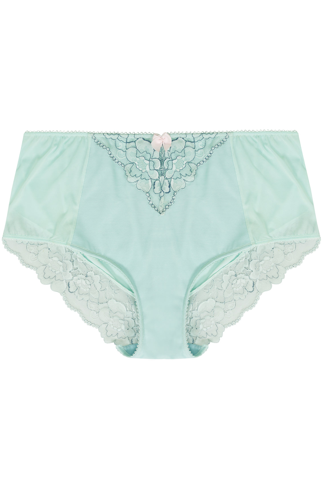 mint green blue two tone mesh brief with floral lace. Black Bedroom Furniture Sets. Home Design Ideas
