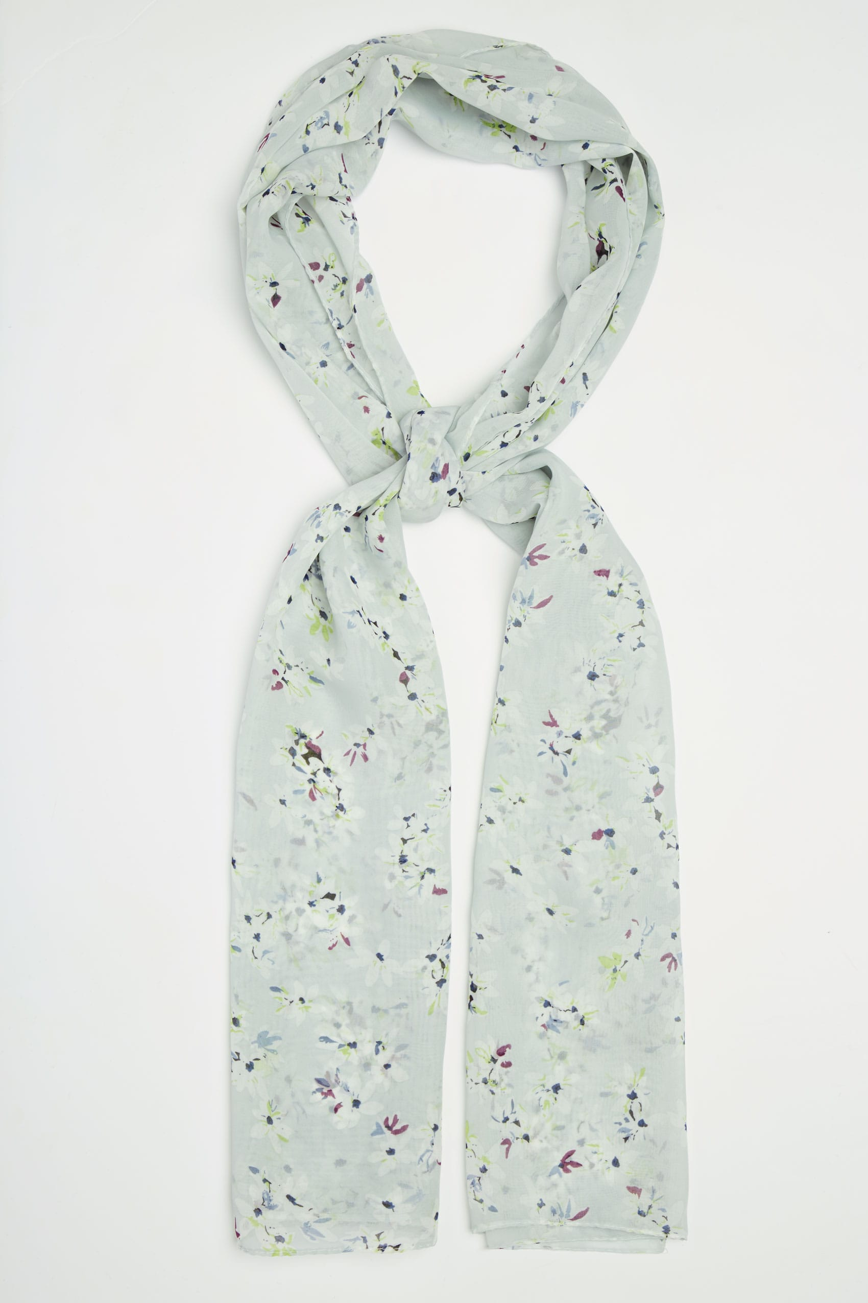 mint green print scarf