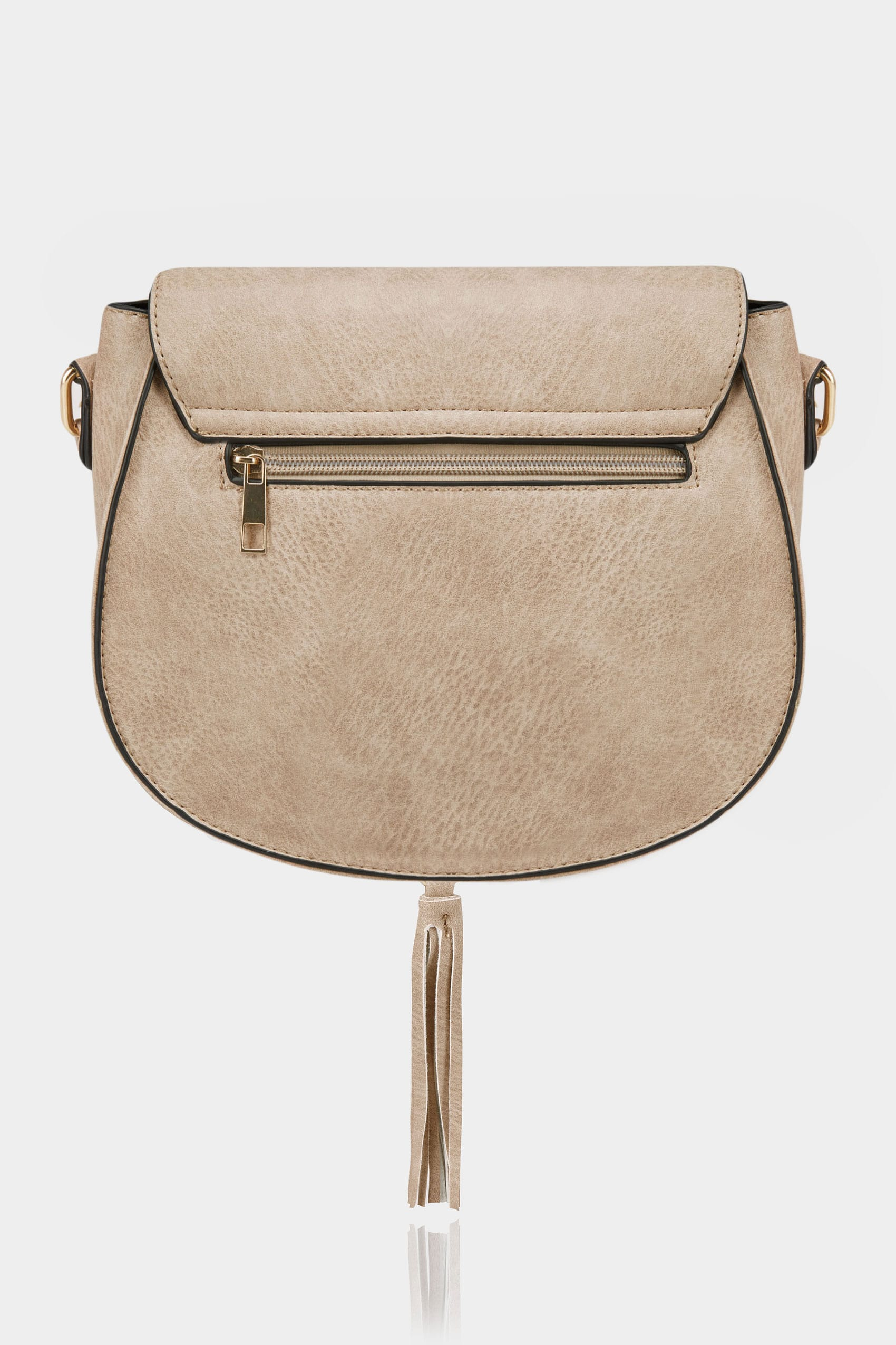 natural beige stitched cross body saddle bag. Black Bedroom Furniture Sets. Home Design Ideas