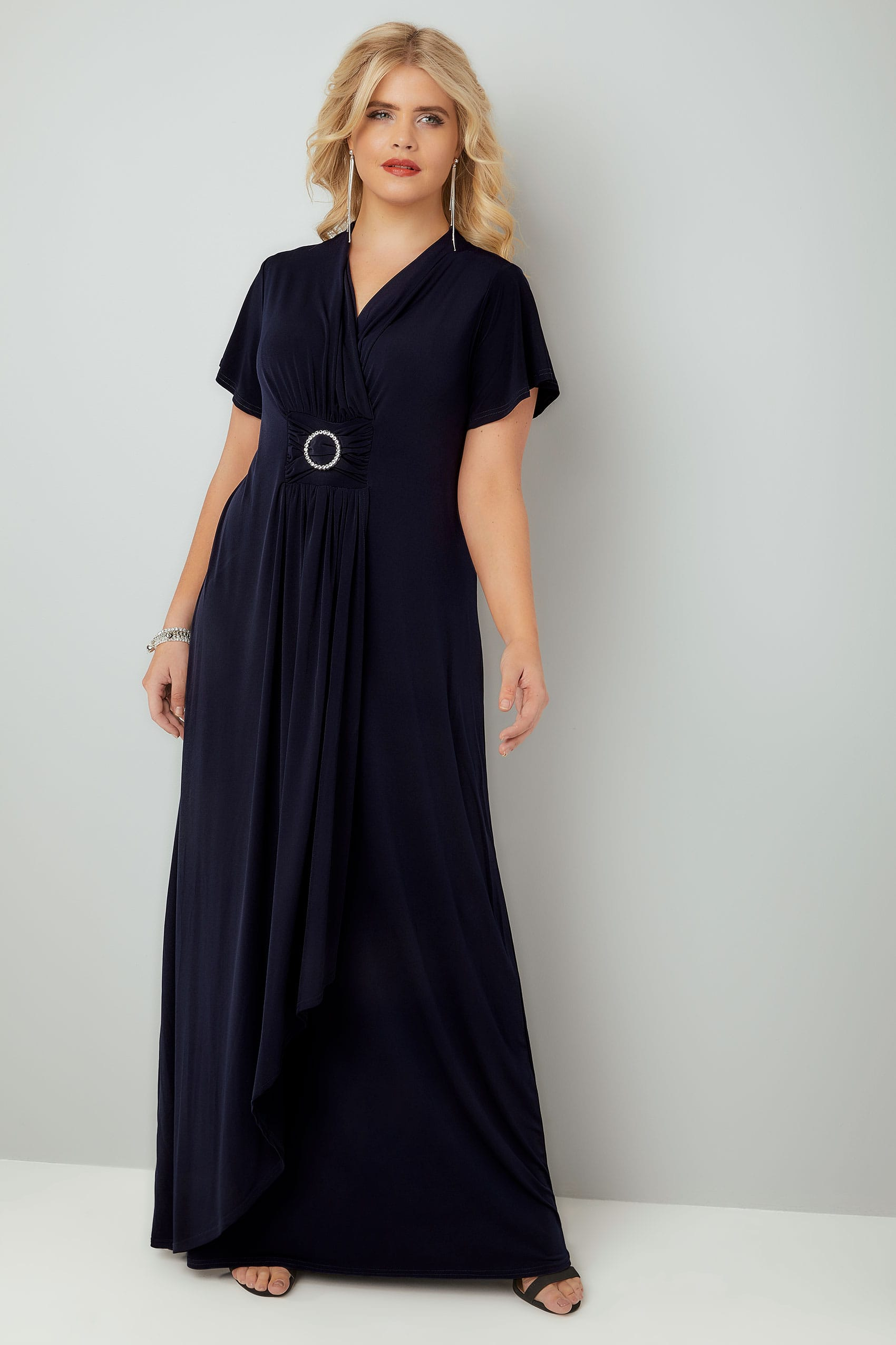 Plus size evening formal dresses yours clothing plus size evening dresses yours london navy layered maxi dress with ring detail ombrellifo Choice Image
