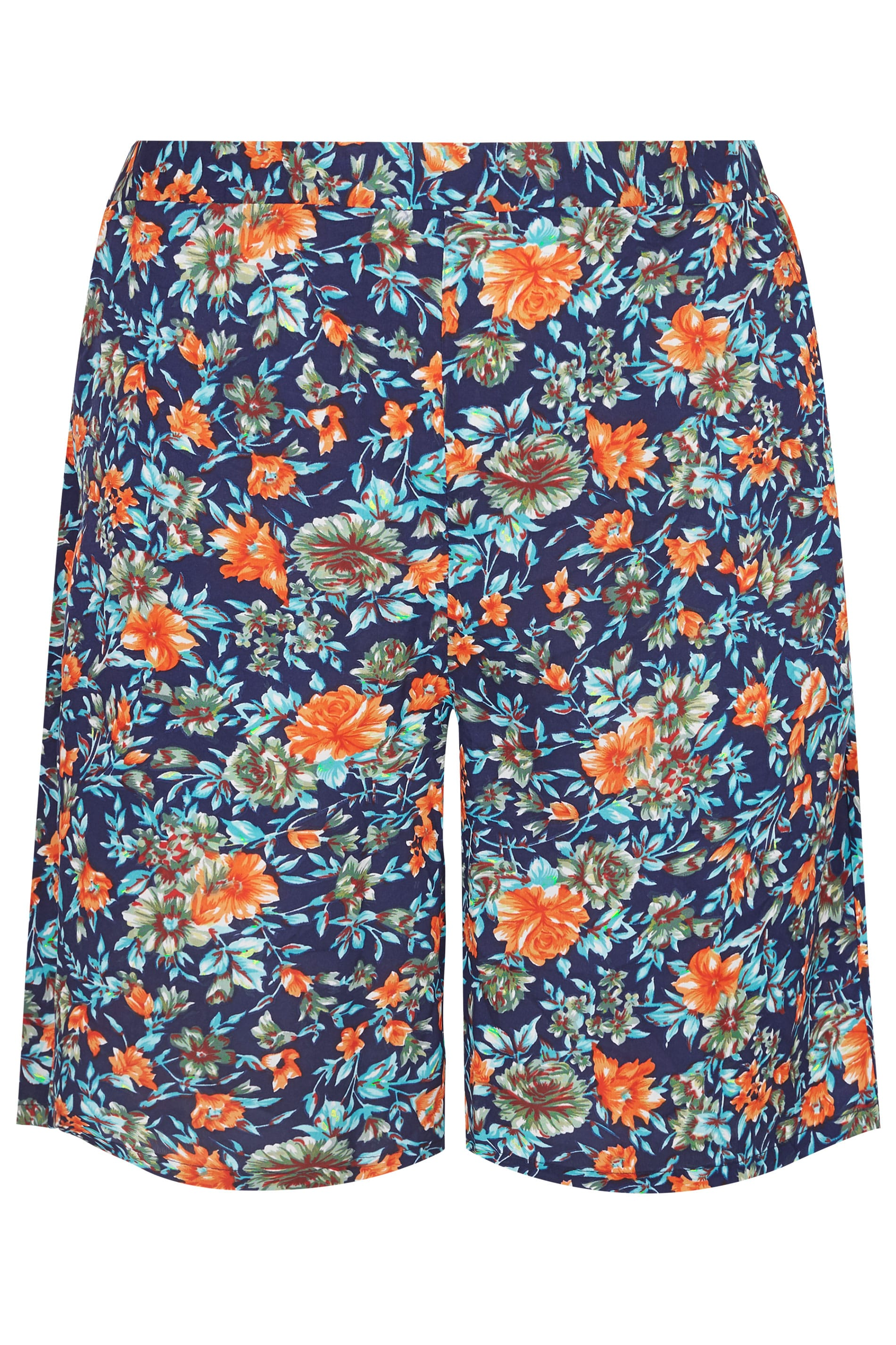 how to head a letter chiffon shorts mit blumenmuster in dunkelblau amp orange in 40372