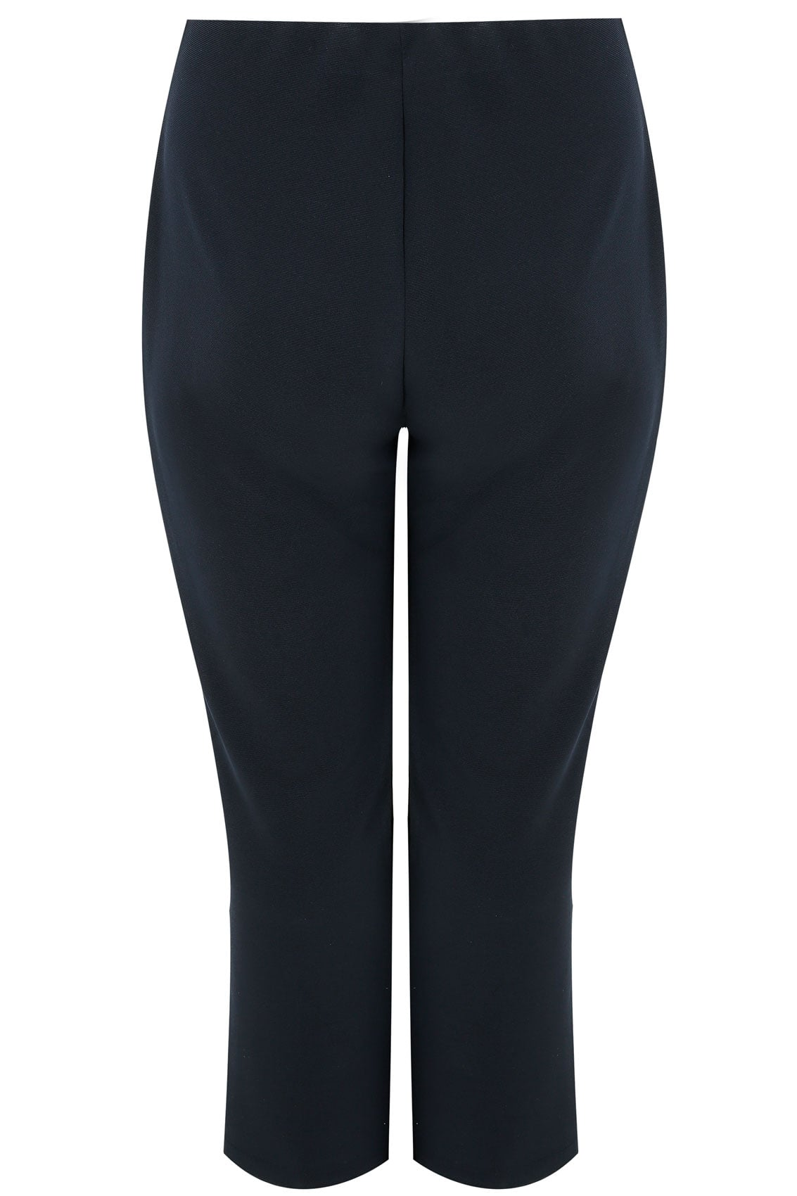 76ef700bf6b Navy Pull On Ribbed Bootcut Trousers