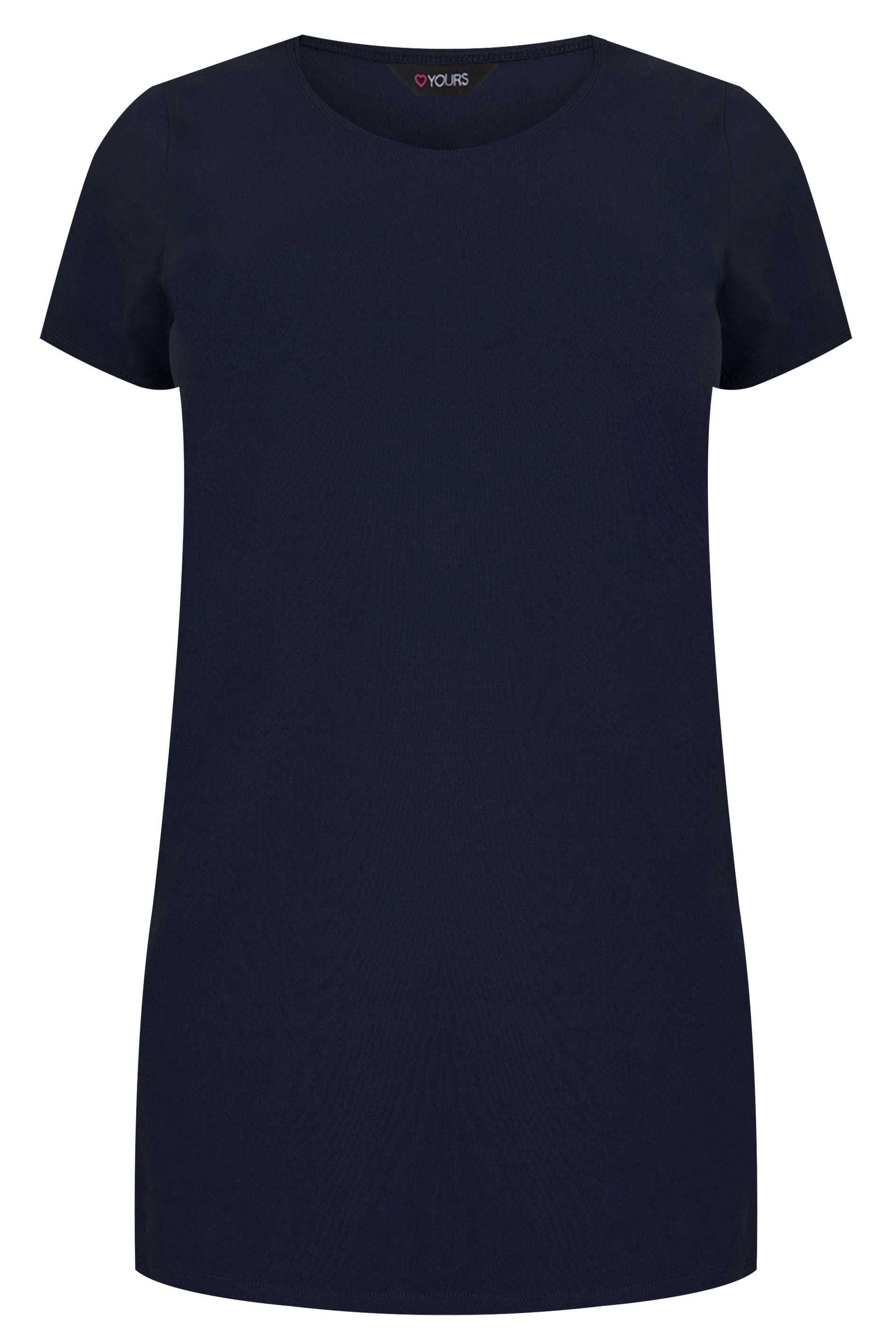 383f115d Navy Scoop Neck Longline Jersey T-Shirt, plus size 16 to 36
