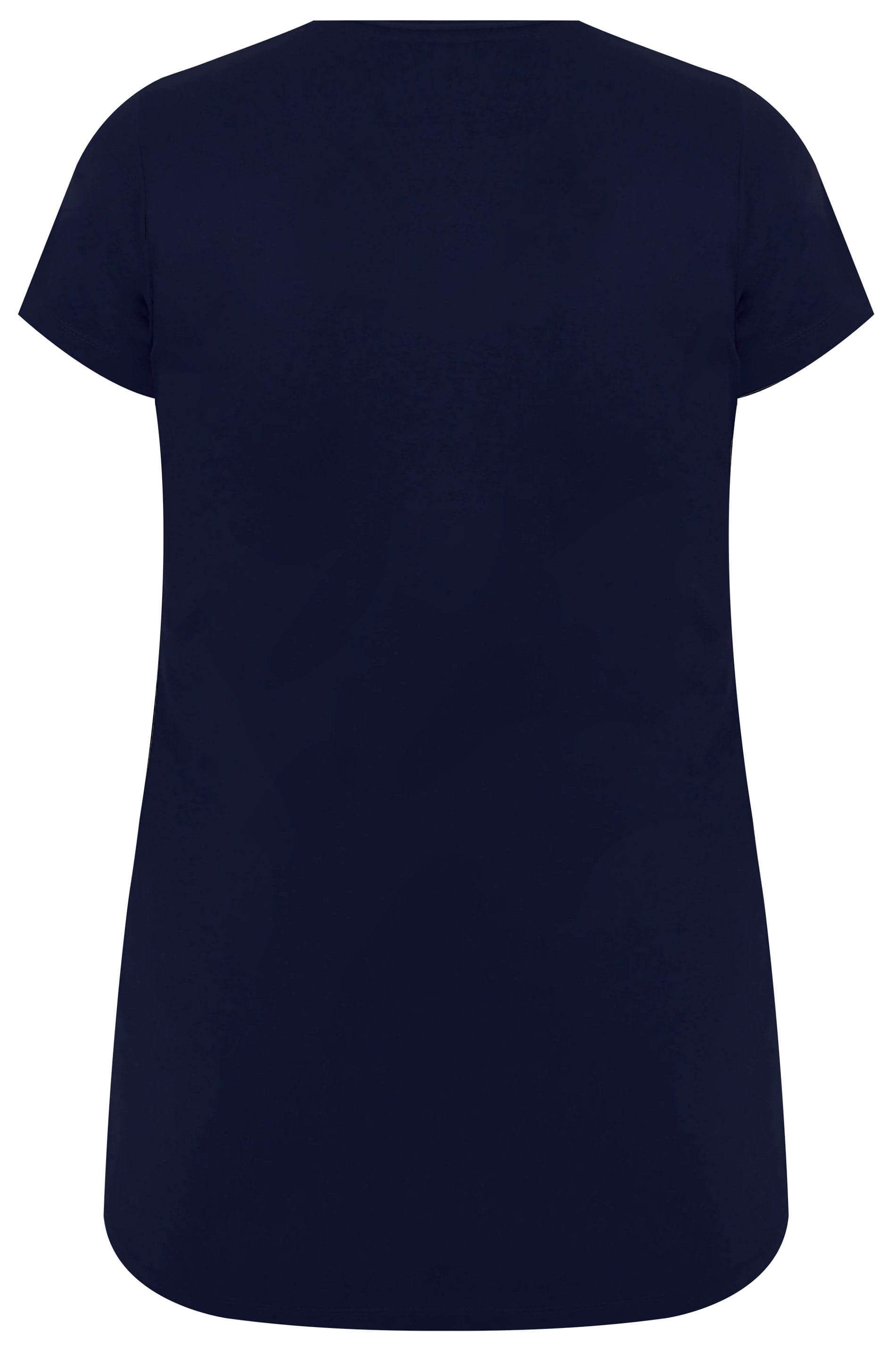 navy short sleeved v neck basic t shirt plus size 16 to 36. Black Bedroom Furniture Sets. Home Design Ideas