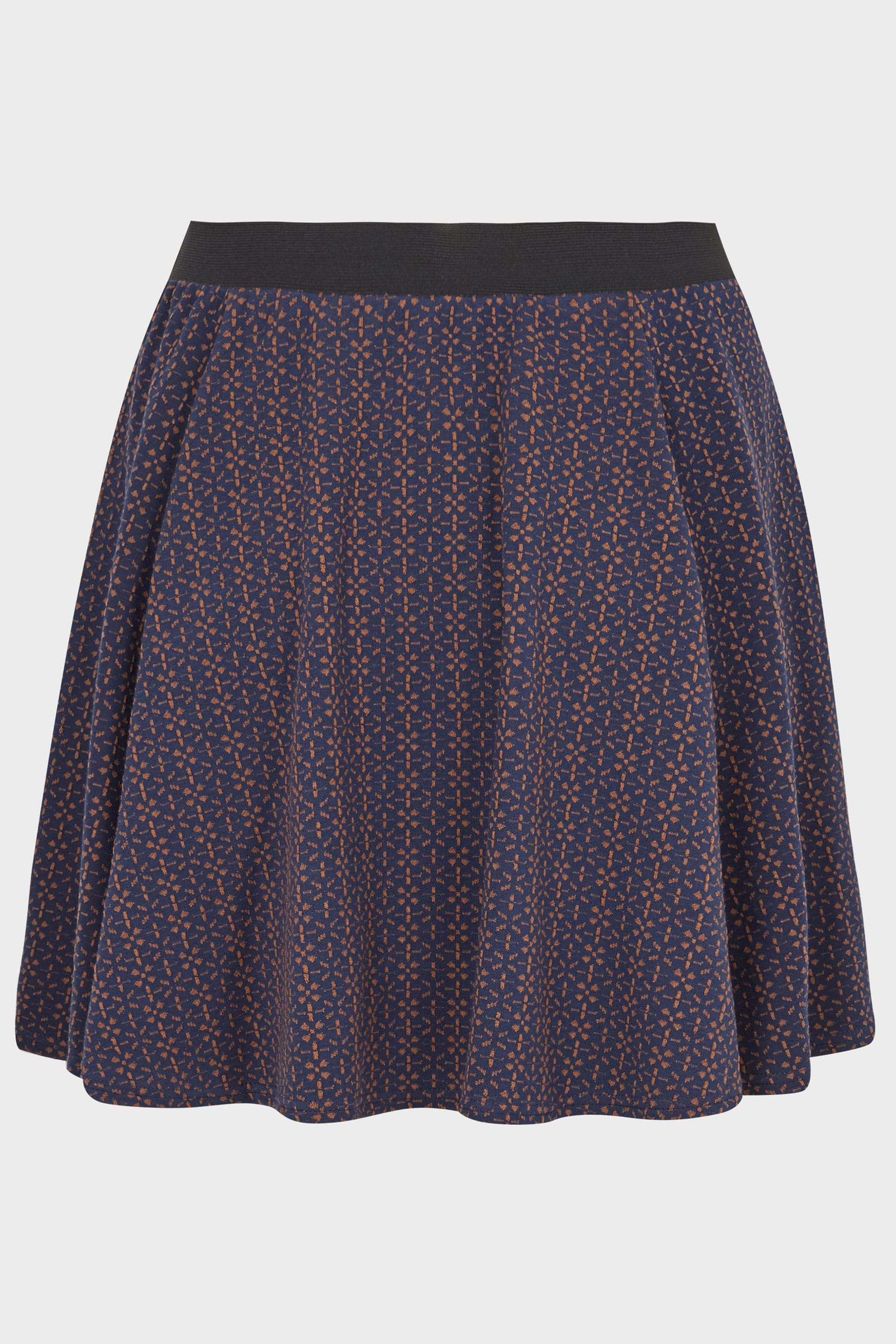 Navy Textured Skater Skirt With Elasticated Waistband Plus Size 16 Tendencies Hats Classic Fist Bump