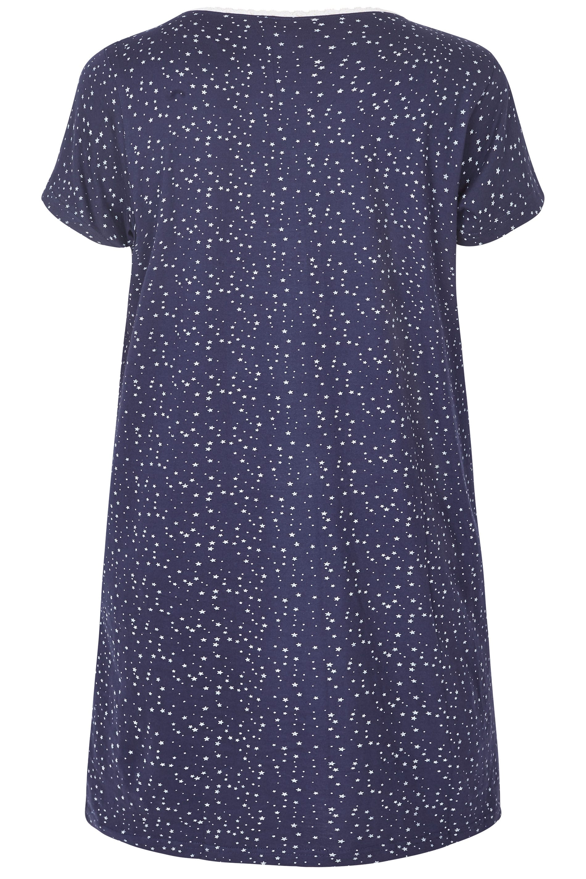 9d6c16c071 Navy   White Star Print Nightdress. ‹ ›