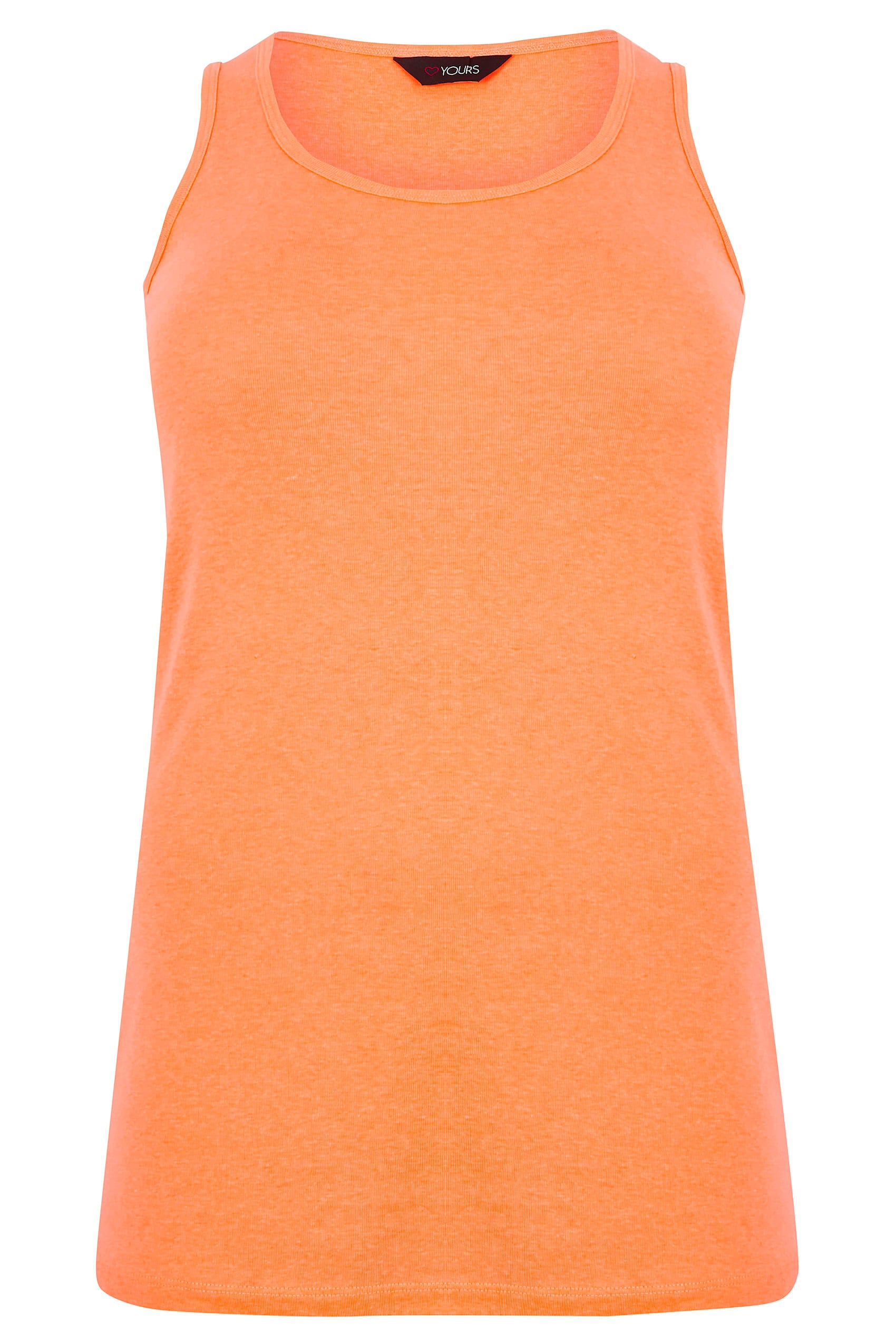 vest top template - neon orange vest top plus size 16 to 36
