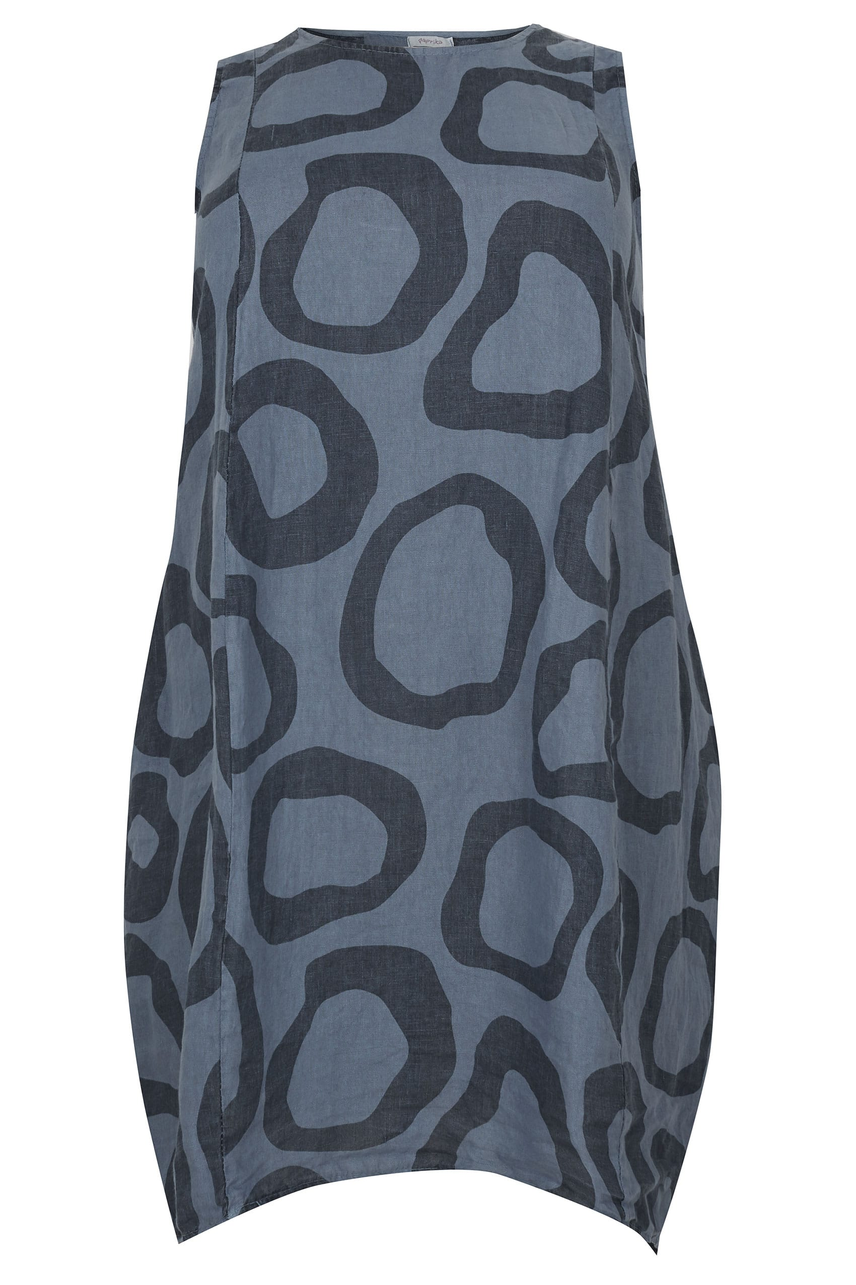 PAPRIKA Navy Circle Print Dress With Pockets, plus size 16 ...