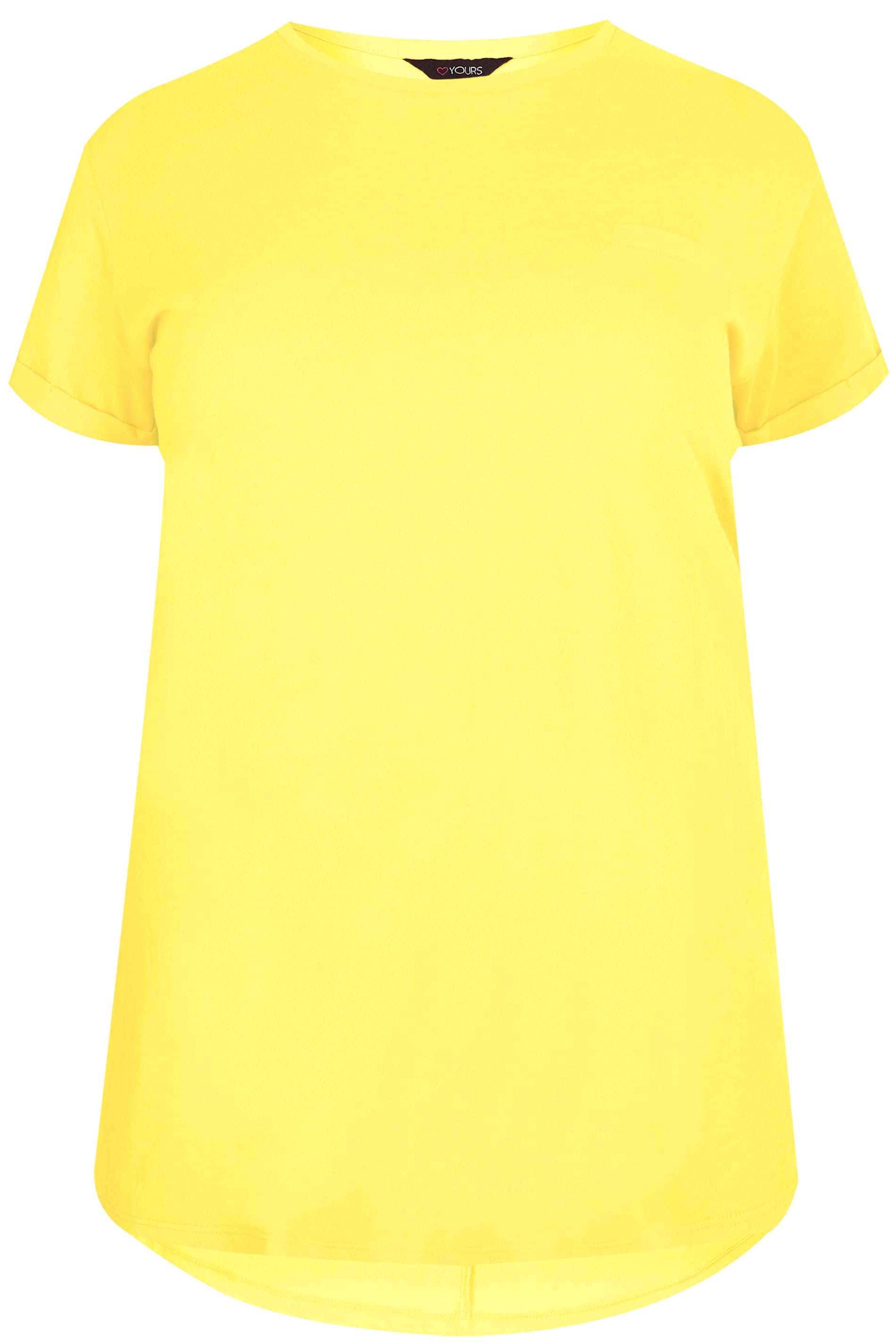yellow mock pocket t shirt plus sizes 16 to 36 yours clothing. Black Bedroom Furniture Sets. Home Design Ideas