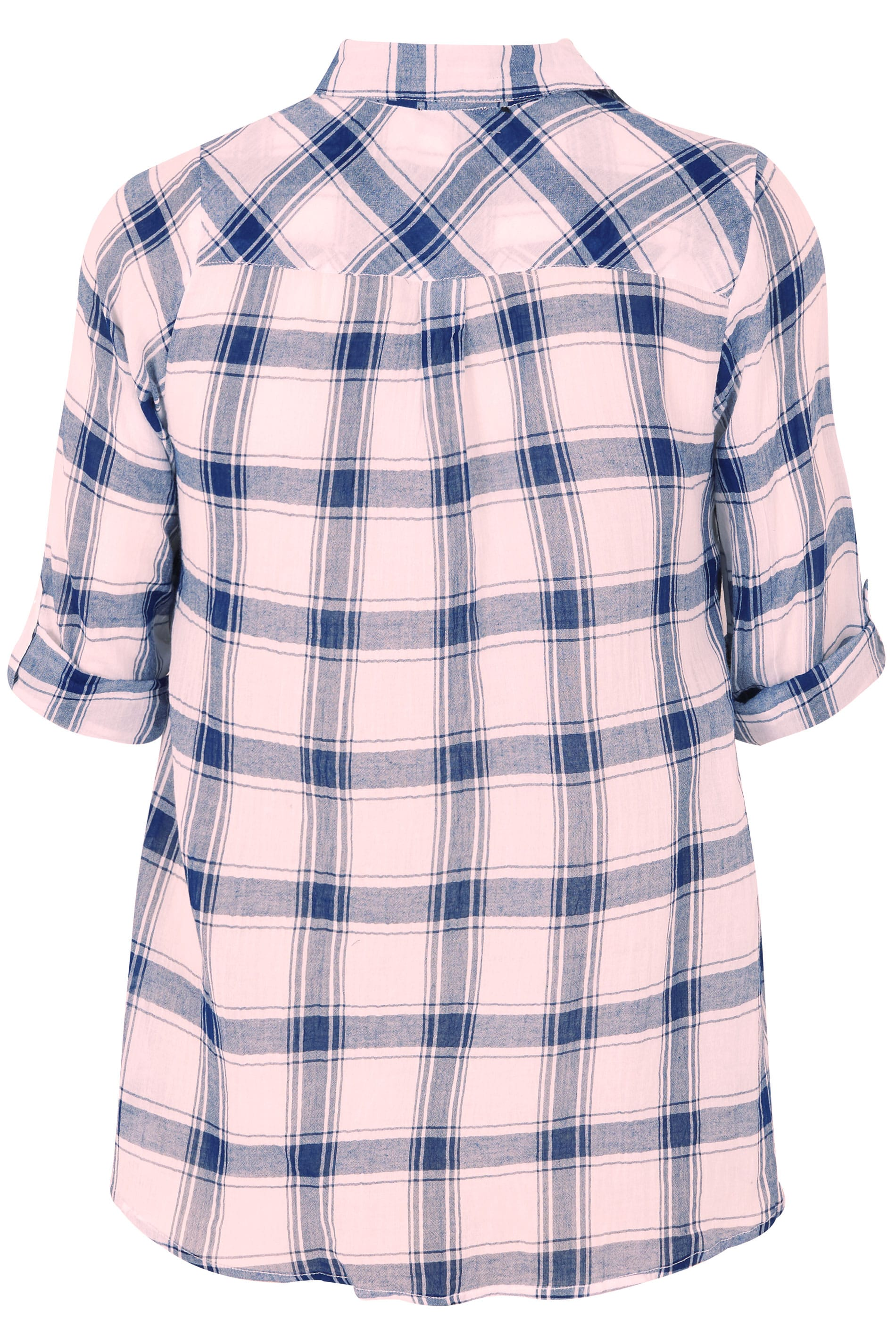 Pink checked shirt with tie front plus size 16 to 36 for Sites like touch of modern