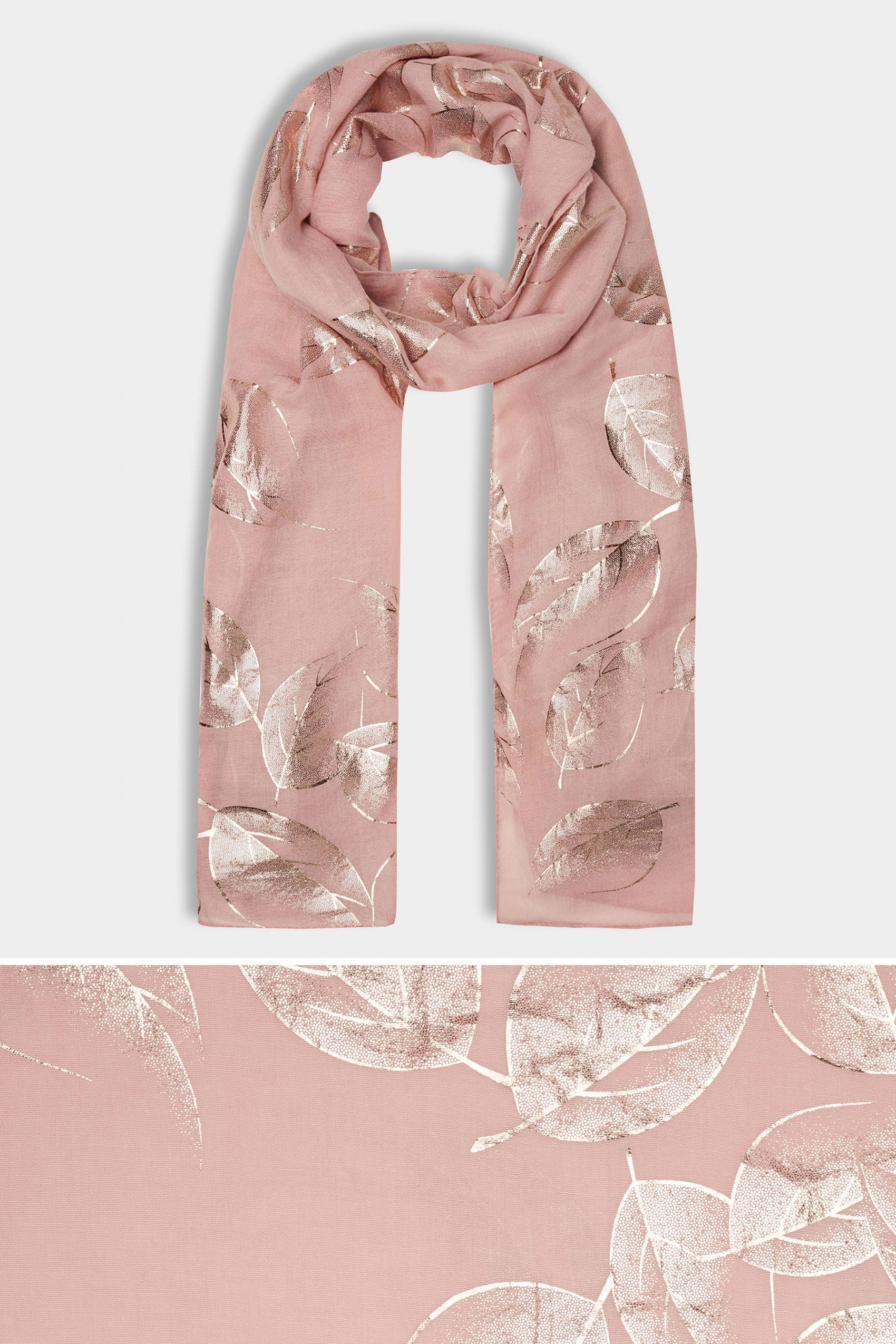 online store terms and conditions template - pink foil leaf print scarf